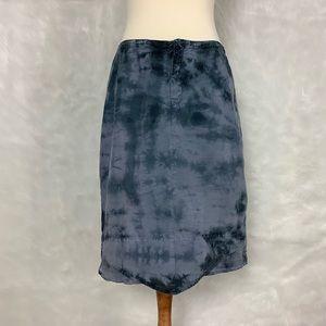 XCVI Blue Gray Tie Dye Pencil Skirt
